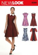 6299 New Look Pattern: Misses' Dress with Neckline and Sleeve Variations